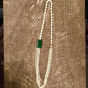 Jewelry - Pearl & Jade Necklace